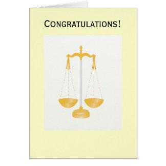 Carte de loi de félicitations