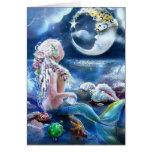 Carte de lune et de sirène