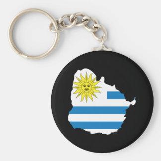 Carte de l'Uruguay Porte-clé Rond