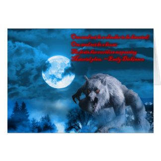 Carte de Lycan Halloween
