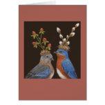 Carte de mariage d'oiseau bleu