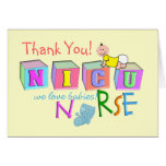"Carte de ""Merci"" d'infirmière de NICU"