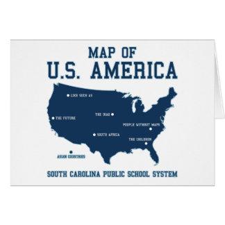 Carte de Mlle la Caroline du Sud des USA Amérique