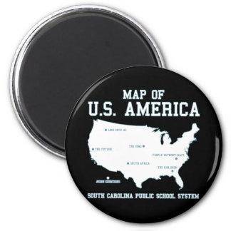 Carte de Mlle la Caroline du Sud des USA Amérique Aimant Pour Réfrigérateur