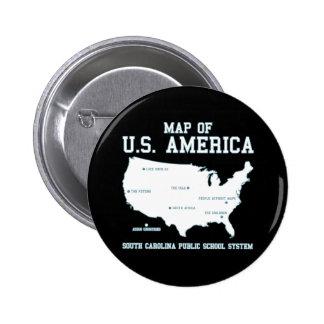 Carte de Mlle la Caroline du Sud des USA Amérique Badges