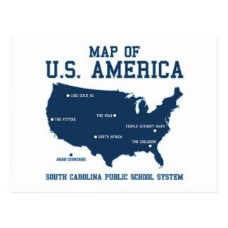 Carte de Mlle la Caroline du Sud des USA Amérique Carte Postale