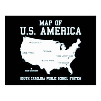 Carte de Mlle la Caroline du Sud des USA Amérique Cartes Postales