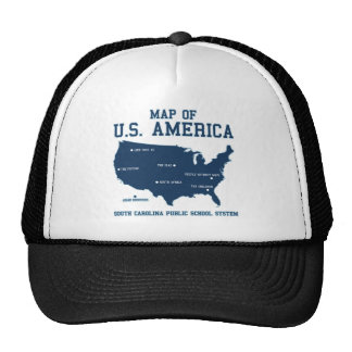 Carte de Mlle la Caroline du Sud des USA Amérique Casquette De Camionneur