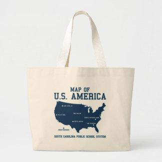 Carte de Mlle la Caroline du Sud des USA Amérique Sac En Toile Jumbo