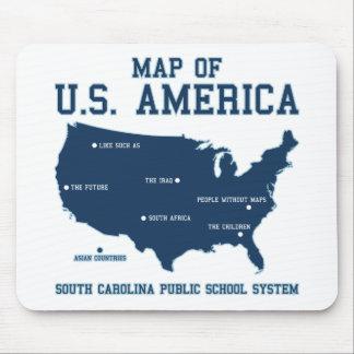 Carte de Mlle la Caroline du Sud des USA Amérique Tapis De Souris
