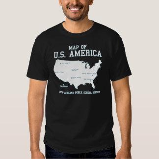 Carte de Mlle la Caroline du Sud des USA Amérique Tee-shirts