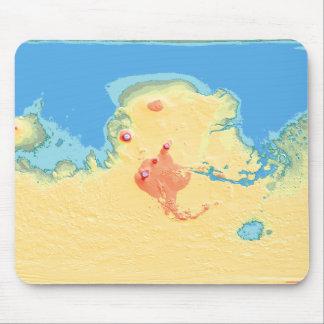 Carte de Mola de Mars après terraforming Tapis De Souris