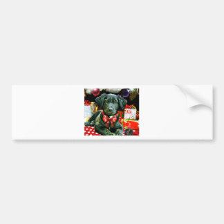 Carte de Noël - chiot mignon Autocollant De Voiture