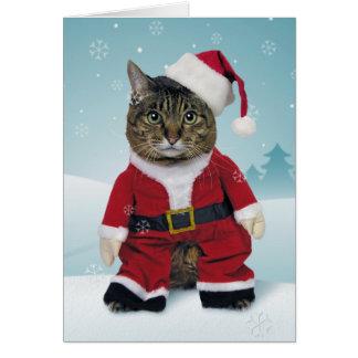 Carte de Noël de griffes de Père Noël