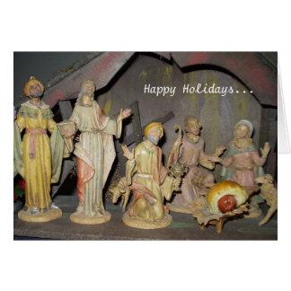 Carte de Noël de Jésus de bébé