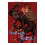 Carte de Noël de Krampus