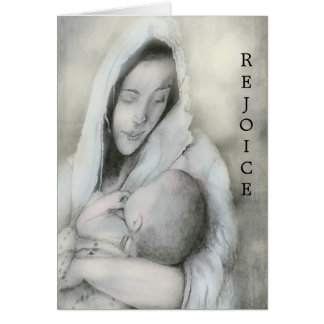 Carte de Noël de Mary et de Jésus