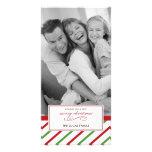 Carte de Noël de menthe poivrée Carte Avec Photo