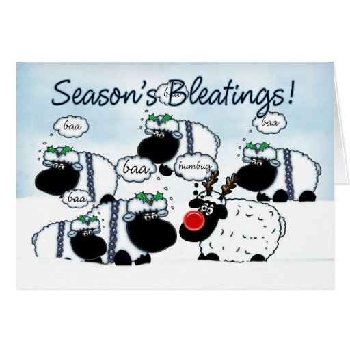 Carte de Noël de moutons - Bleetings de Seaon