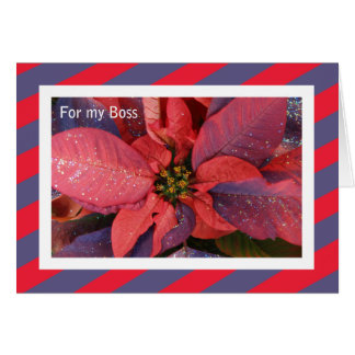 Carte de Noël de patron -- Poinsettia rouge