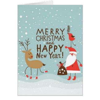 Carte de Noël de salutation et de nouvelle année