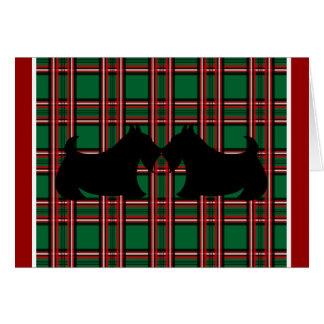 Carte de Noël de Terrier d écossais
