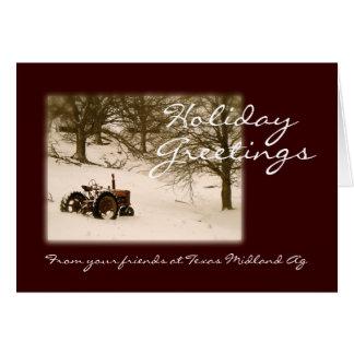 Carte de Noël de tracteur pour les affaires ou la