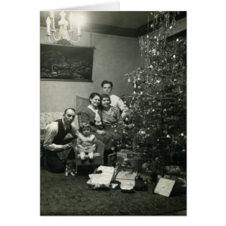 Carte de Noël démodée