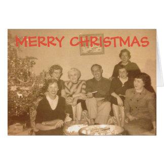 Carte de Noël démodée (circa les années 1950)