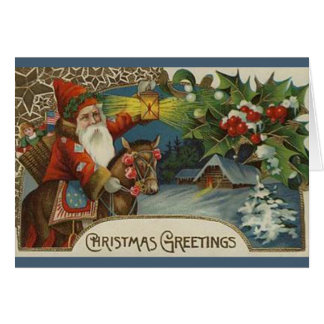 Carte de Noël démodée de Père Noël