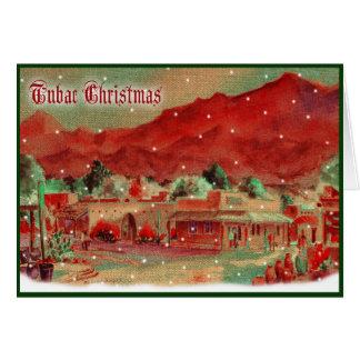 Carte de Noël démodée de Tubac