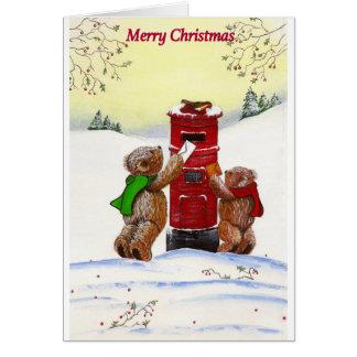 Carte de Noël d'ours de nounours