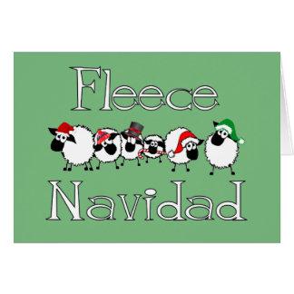 Carte de Noël drôle de Navidad d ouatine