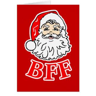 Carte de Noël du père noël BFF