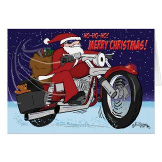 Carte de Noël du traîneau de Père Noël