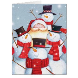 Carte de Noël enorme de Père Noël Selfies