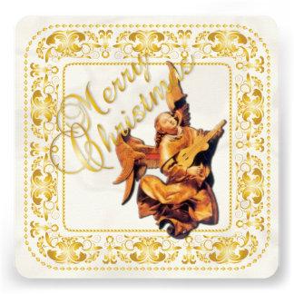 Carte de Noël et ornement d ange - or - carte Faire-part Personnalisables