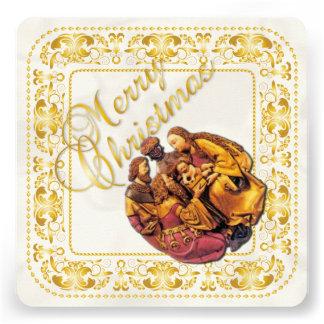 Carte de Noël et ornement de sages - or - carte Faire-parts