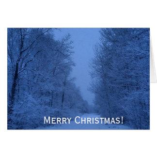 Carte de Noël horizontale en bois -- Chrétien