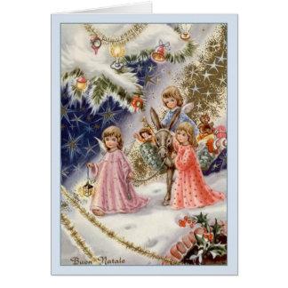 Carte de Noël italienne vintage de Buon Natale