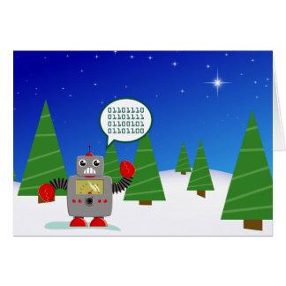 Carte de Noël mignonne de robot