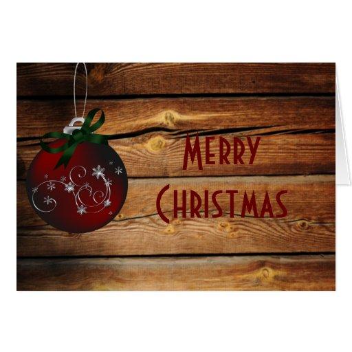 Carte de Noël occidentale de Barnwood