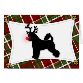 Carte de Noël portugaise de renne de chien d'eau