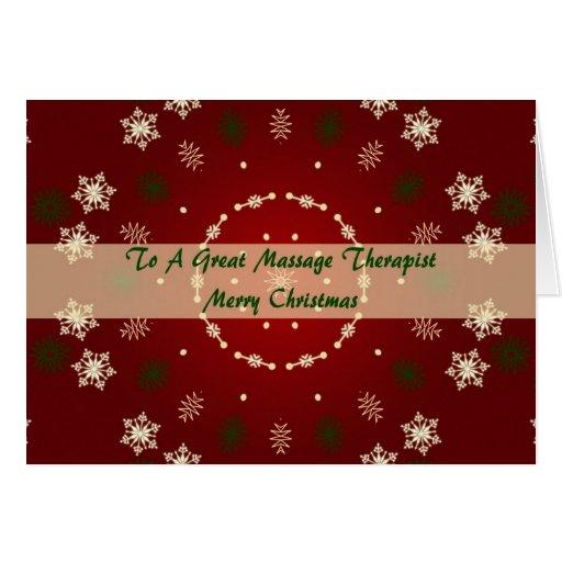 Carte de Noël pour le thérapeute de massage