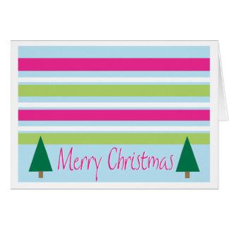 Carte de Noël rayée
