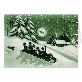 Carte de Noël vintage d'amusement