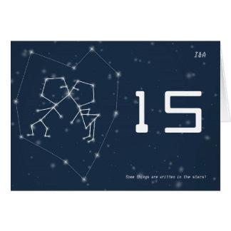 Carte de nombre de Tableau de constellation d amou