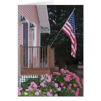 Carte de note à la maison américaine