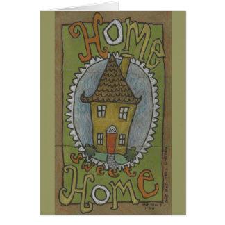 Carte de note à la maison douce à la maison ou fai