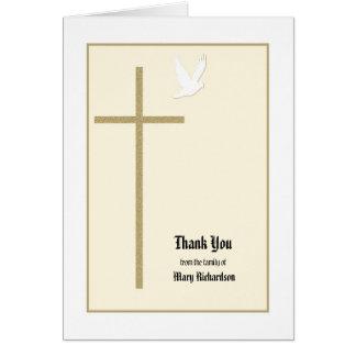 Carte de note commémorative chrétienne de Merci